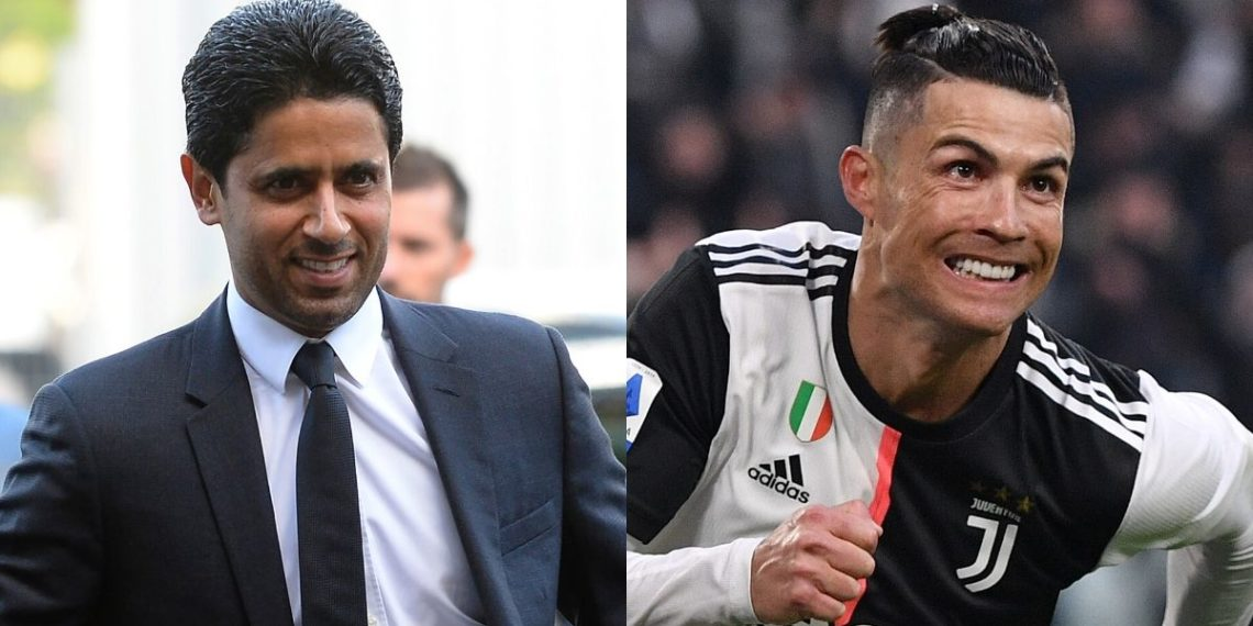 Nasser Al-Khelaifi, jeque del PSG, demuestra otra vez interés por Cristiano Ronaldo