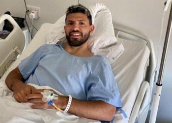 Agüero anuncia que la operación de rodilla ha ido bien.