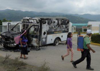 Manifestaciones en Villa Las Rosas - Chiapas