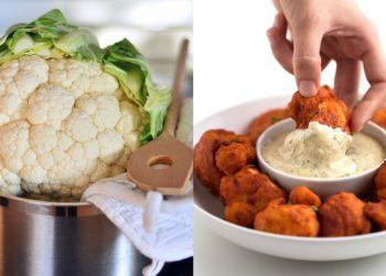 Receta de coliflor: alitas de coliflor