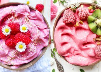Smoothie bowl de fresas y banana