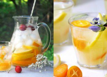 Té helado de limón y menta
