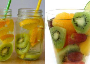 Agua de naranja y kiwi