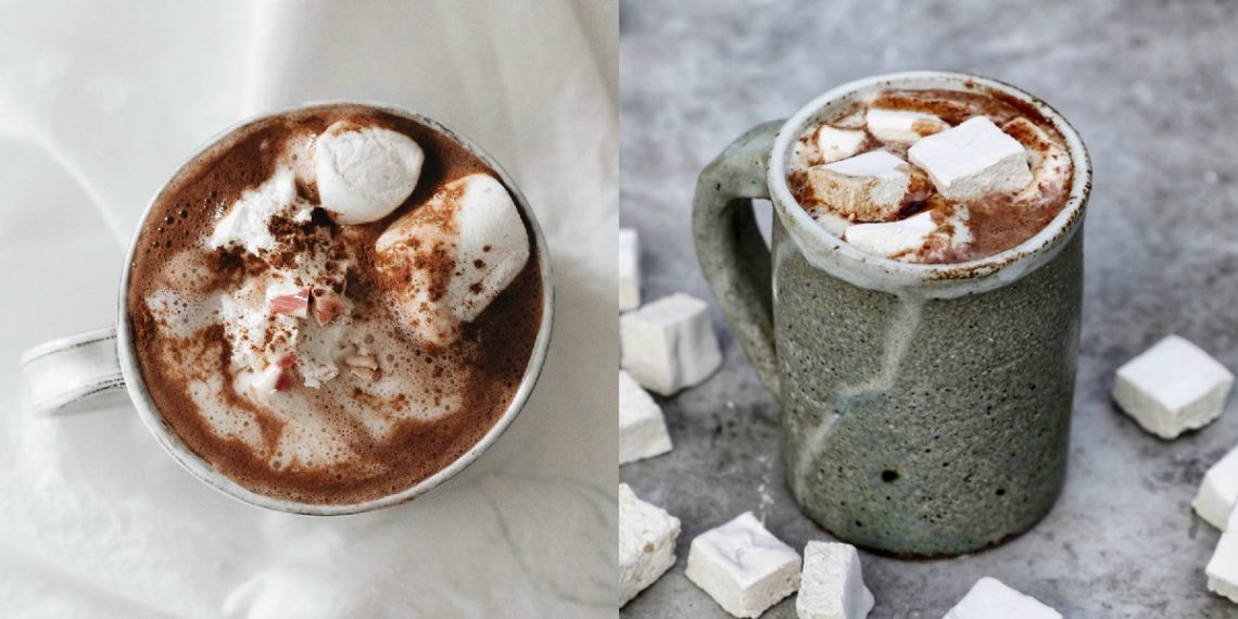 Chocolate caliente con marshmallows