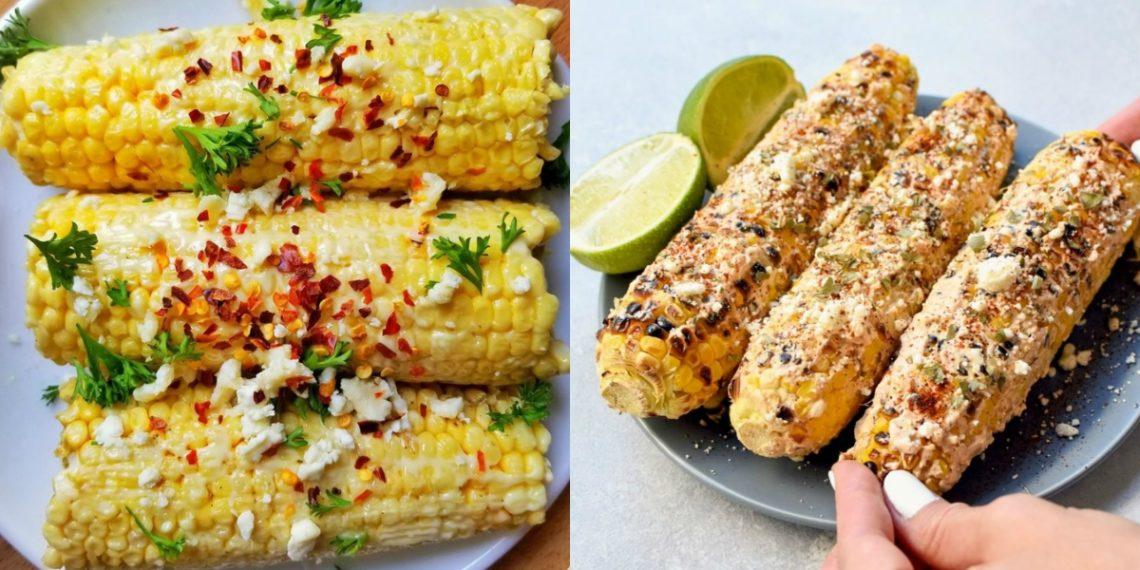 Receta de elote o mazorcas de maíz