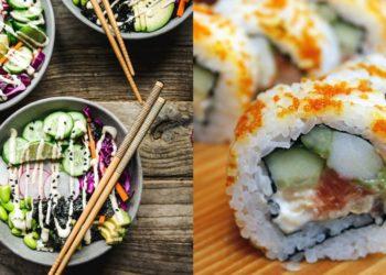 Sushi roll en bowl
