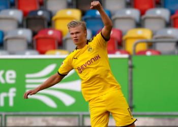 Un gol de Haaland frenó de momento la celebración del Bayern