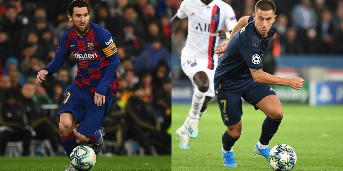 La comparación viral entre Messi y Hazard