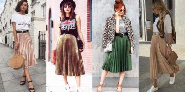 look falda plisada
