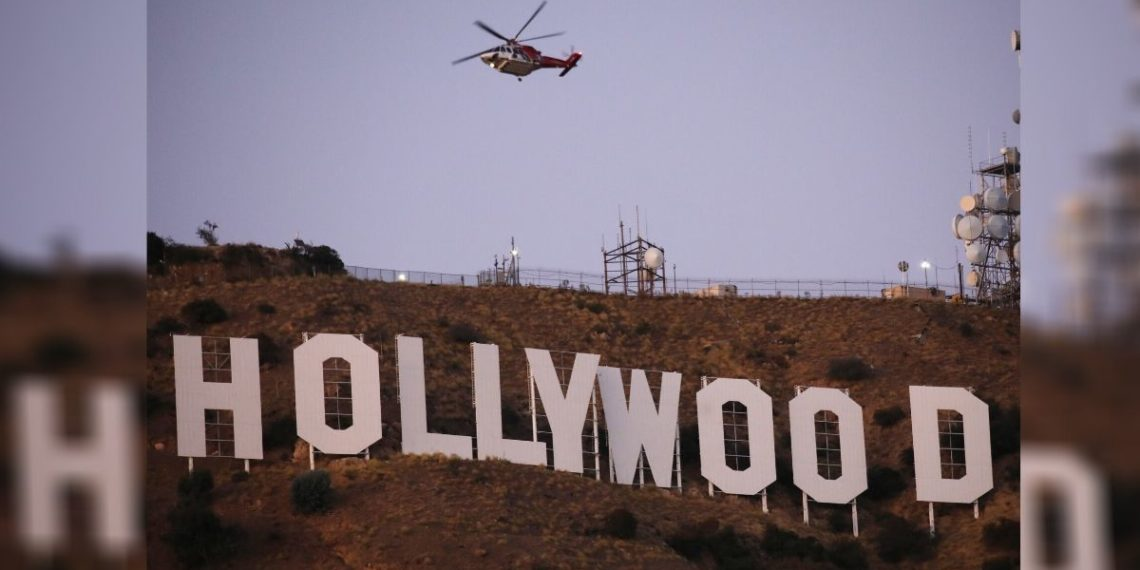 Foto de archivo donde se muestra el letrero de Hollywood en Los Ángeles, California. Foto: AFP