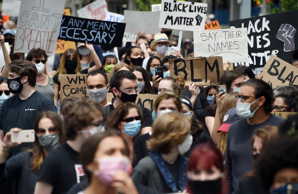 Manifestantes en Estados Unidos