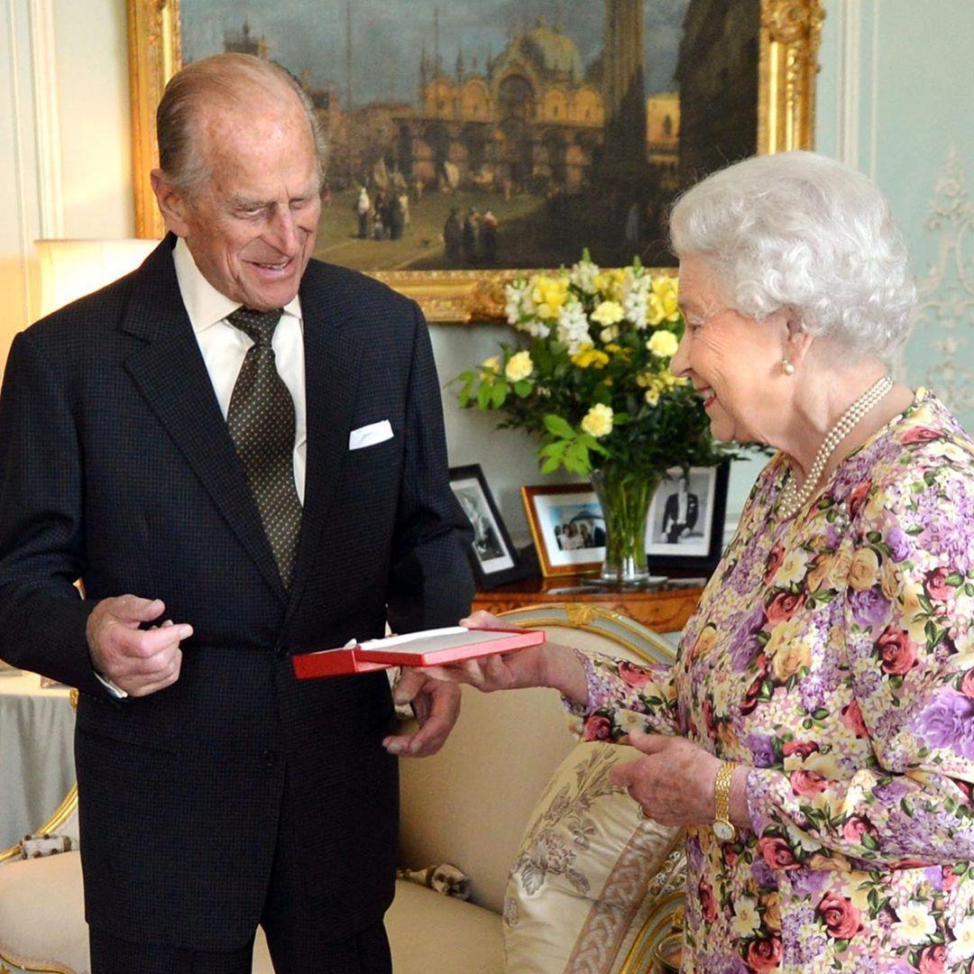 Felipe de Edimburgo y la reina Isabel