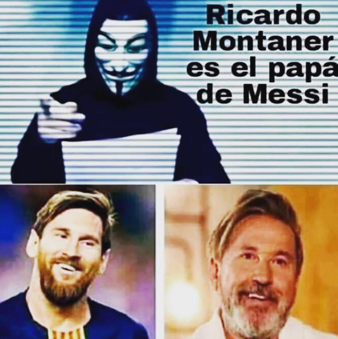 Ricardo Montaner meme con Messi
