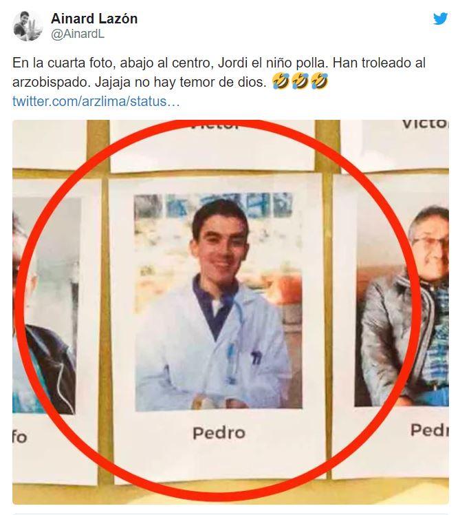 Una foto de un actor de cine para adultos español se coló en un homenaje a las víctimas del COVID-19