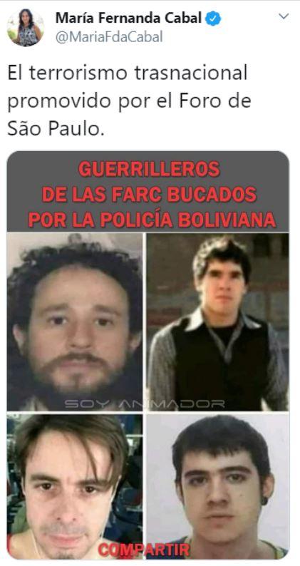 María Fernanda Cabal confundió a youtubers con terroristas.