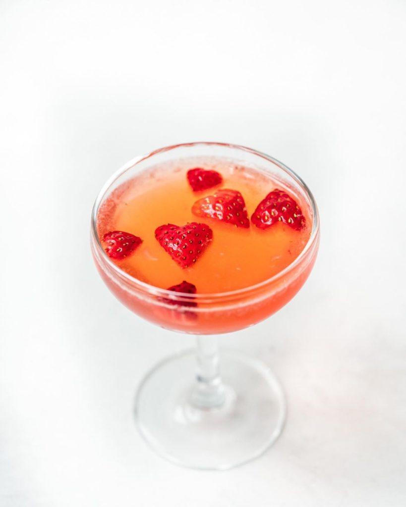 Vodka de fresa y vainilla