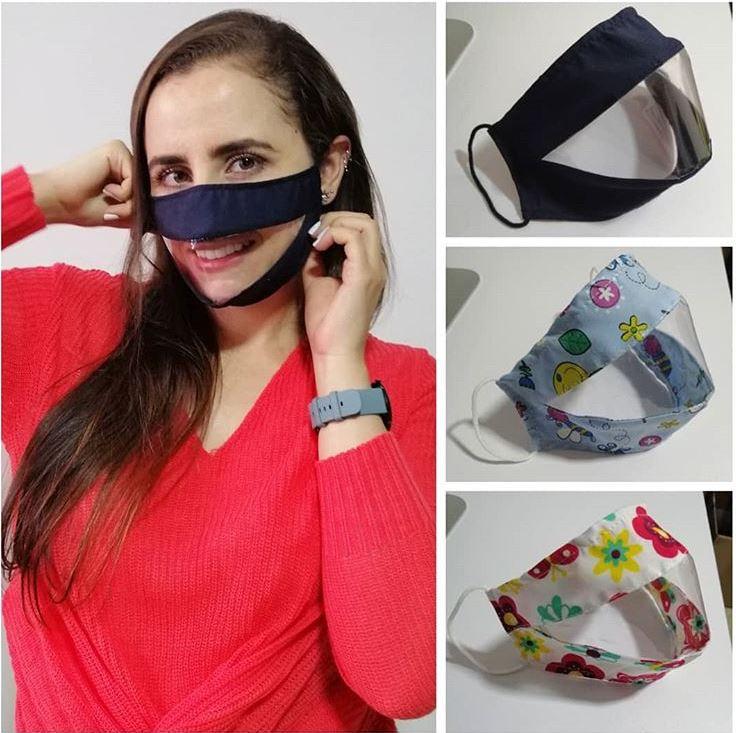 Joven colombiana se inventó un tipo de tapabocas transparente para comunidad sorda