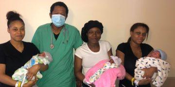 Tres hermanas dieron a luz al mismo tiempo y con el mismo doctor