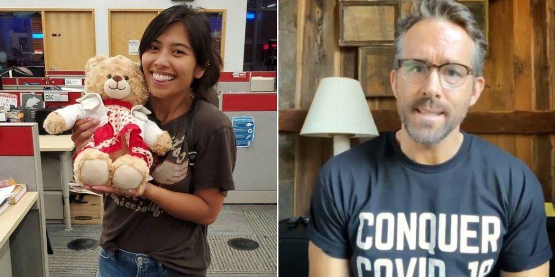 Ryan Reynolds recompensa oso de peluche
