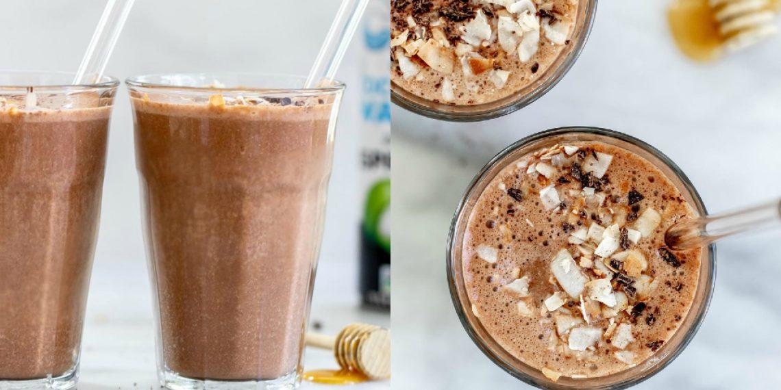 Batido de chocolate y café expreso