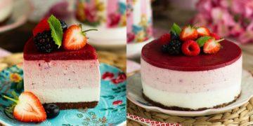 Receta fácil y económica de torta cheesecake sin horno