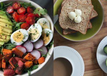 Comidas sanas, sustanciosas y nutritivas