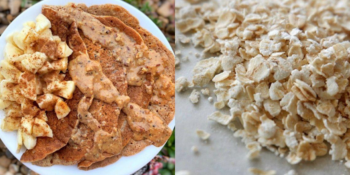 Receta de crepas o crepes con avena hechas con harina de avena