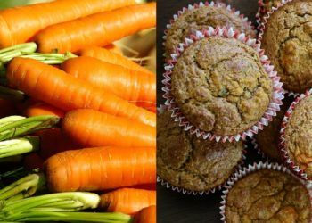 Receta básica de cupcakes de zanahoria