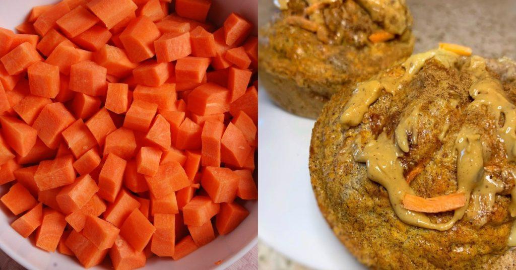Con zanahoria y harina integral