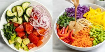 Ensaladas saludables y nutritivas para dieta