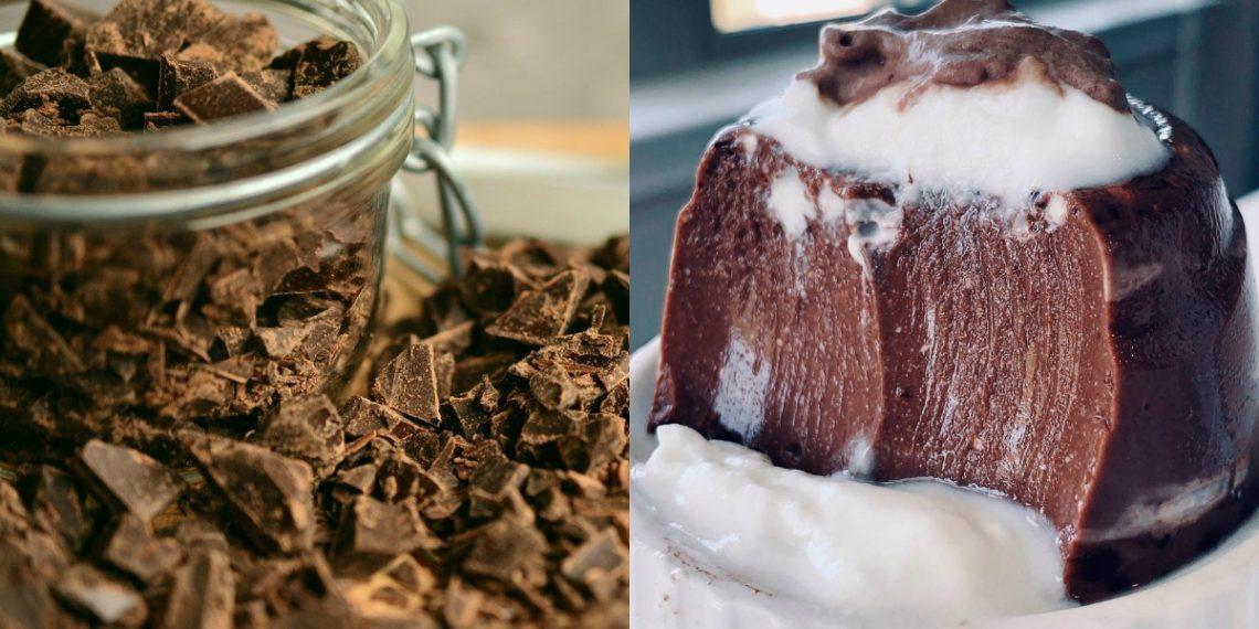 Receta para hacer flan de chocolate