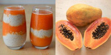 Receta de jugo de papaya con piña, leche y semillas de chía