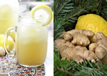 Receta de limonada de jengibre casera