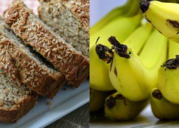 Pan de plátano o banana con coco