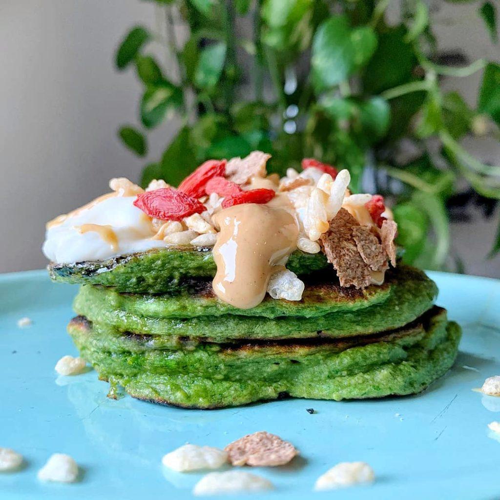 Pancakes de espinacas