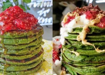 Panqueques de avena o green pancakes