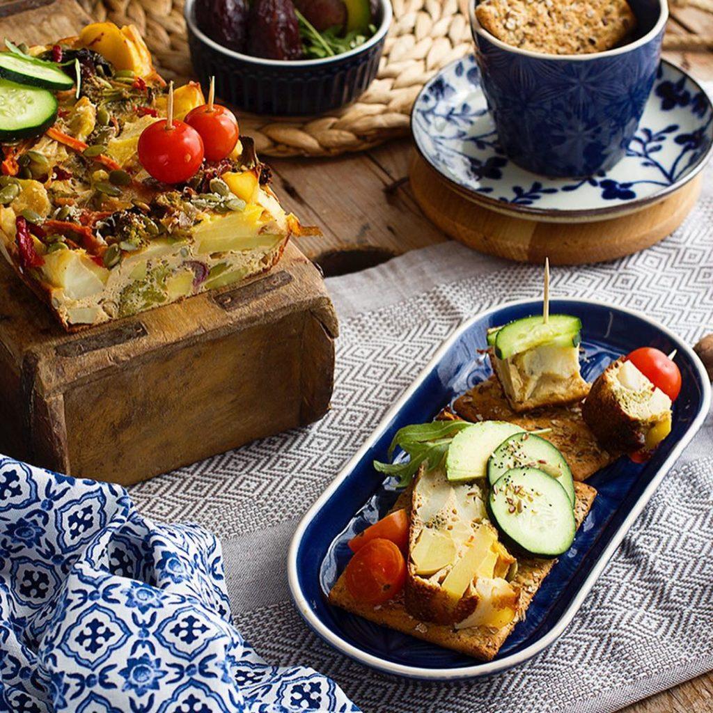 Pastel de patata con verduras