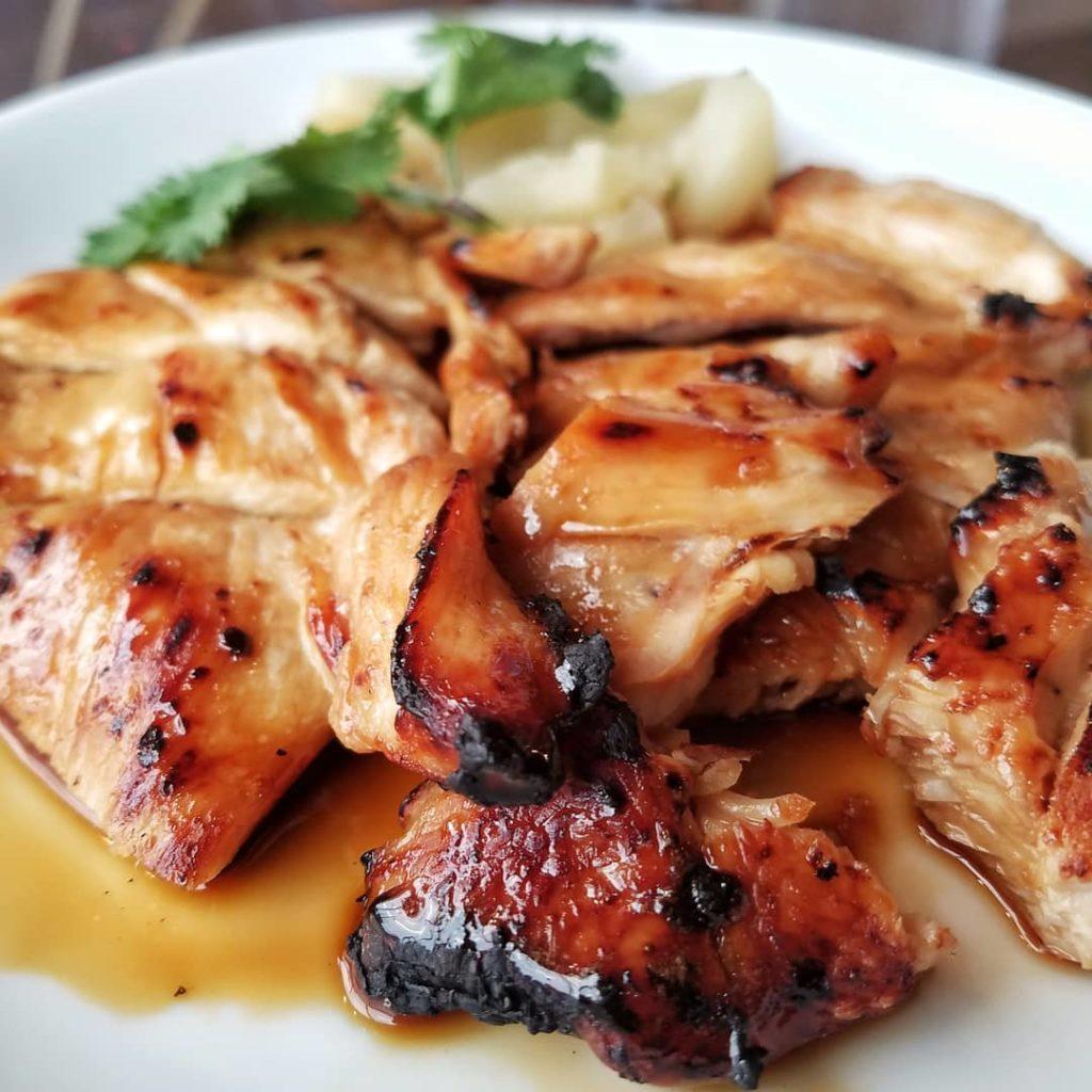 Pollo estilo asiático
