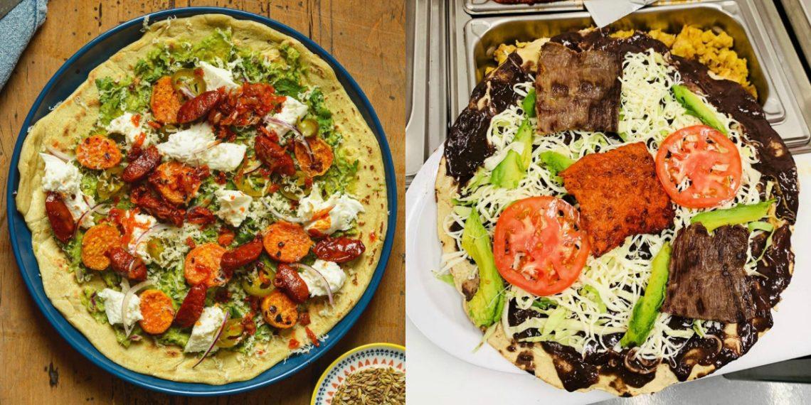 Receta de tlayuda: una comida callejera a base de tortilla mexicana a la parrilla