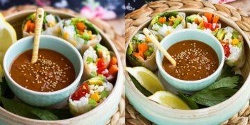 Receta de rollos vietamitas de verduras
