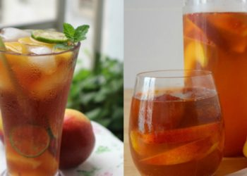 Receta de té frío o helado de durazno