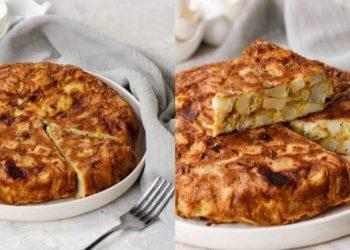 Tortilla de papas (patatas) y cebolla