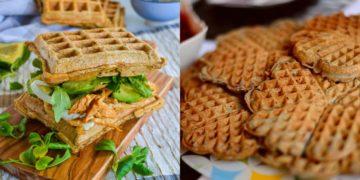 Receta para hacer waffles salados