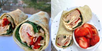 Wrap de pollo y verduras