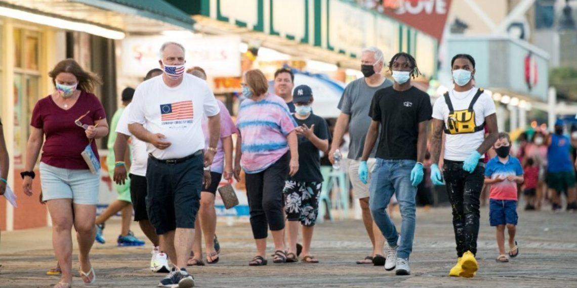 Casos de coronavirus en Estados Unidos. Foto: AFP