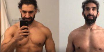 El antes y después del cambio físico de Ahmad Ayyad tras contraer coronavirus. Foto: Instagram @ahmadbird