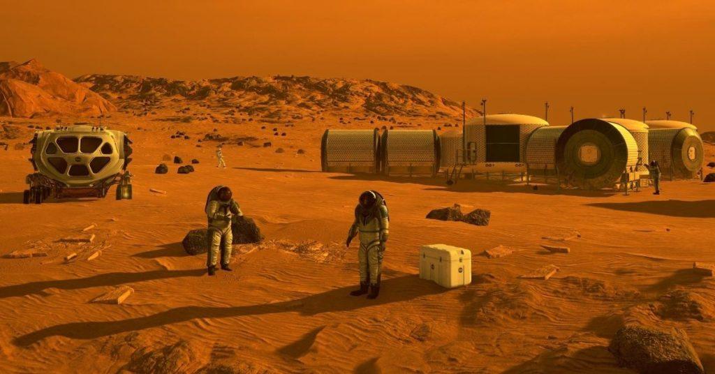 humanos a Marte