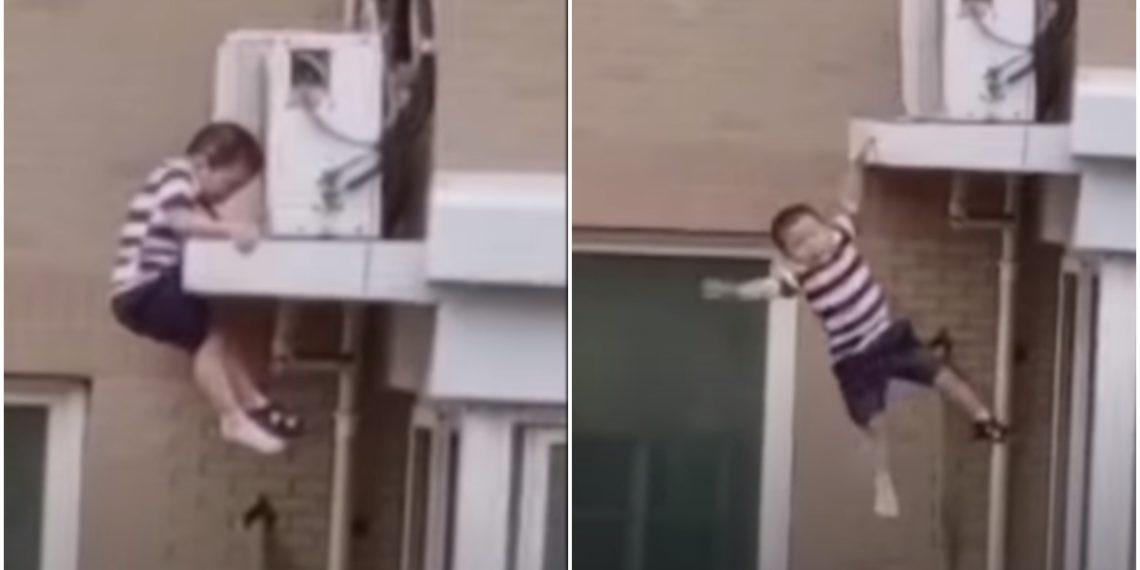 Niño cayó de quinto piso