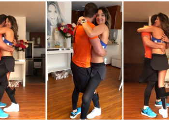 Daniella Álvarez bailando