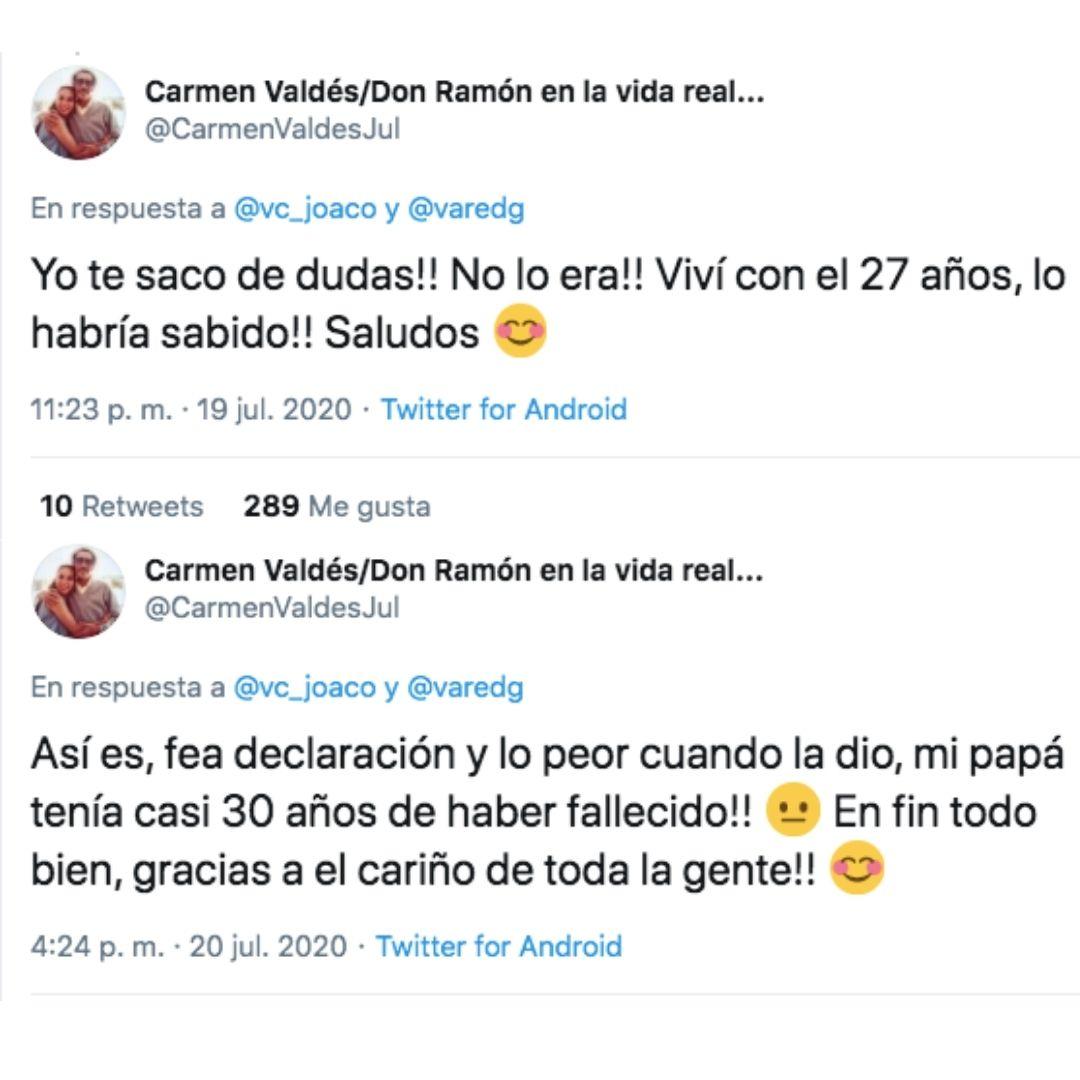 Hija de Don Ramón habla de las adicciones del actor 2020